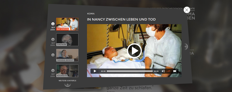 Aus dem Koma zurück ins Leben Tamara Grübel – Chronologie der entscheidenden Momente - ARTE Website